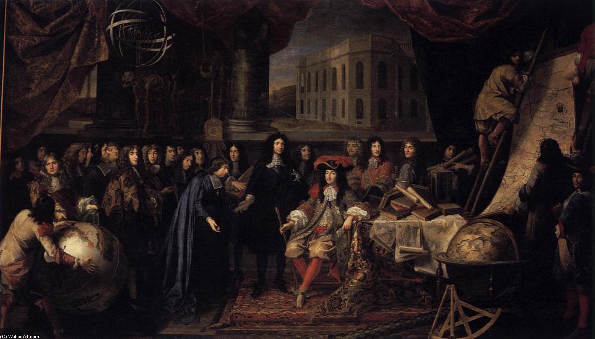 Кольбер Представляя членов Королевской академии наук Луи XIV в 1667 году по  Henri Testelin (1616-1695, ...