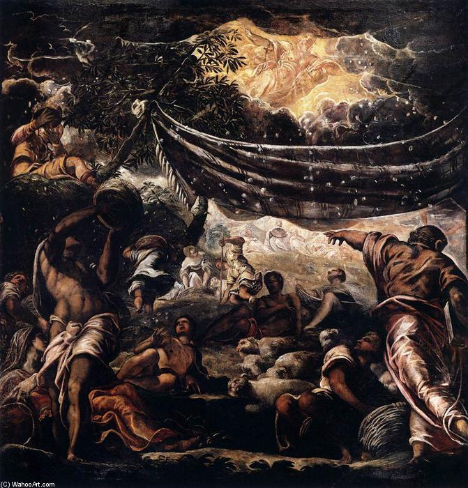 The Miracle of Manna - Tintoretto (Jacopo Comin)