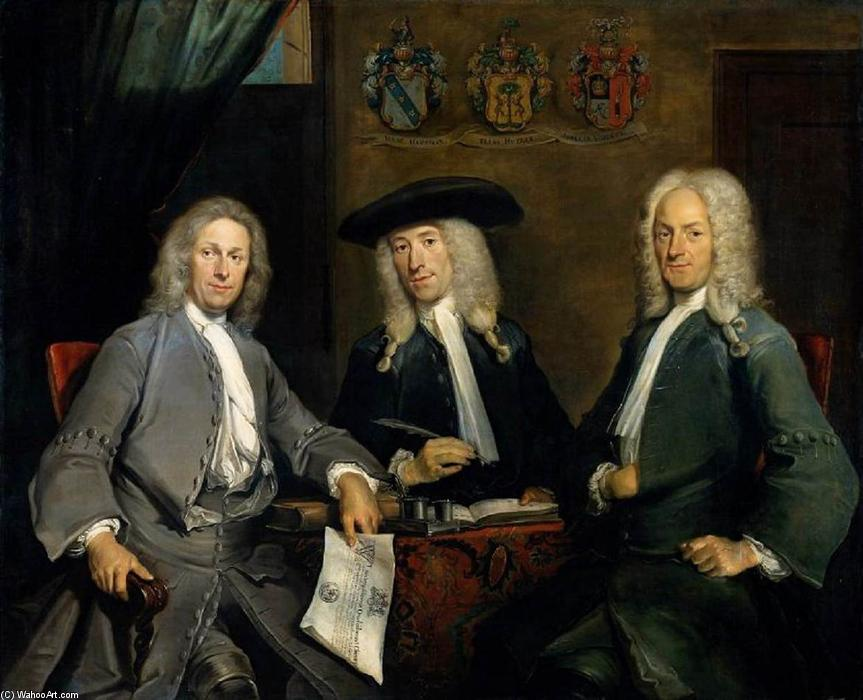 Three Governors of the Surgeons Guild, Amsterdam, 1731 by Cornelis