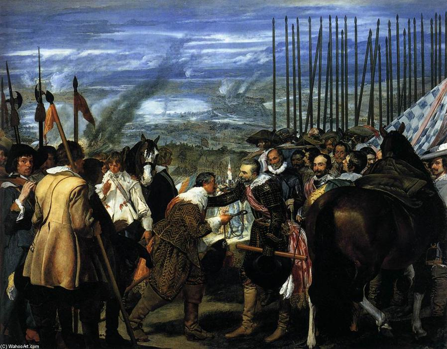 The Surrender of Breda (Las Lanzas), 1634 by Diego Velazquez (1599-1660, Spain) | Museum Quality Copies Diego Velazquez | WahooArt.com