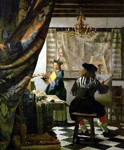 Jan Vermeer - The Art of Painting - (oil painting reproductions)