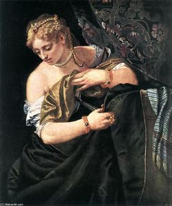 Paolo Veronese - Lucretia - (Famous paintings)