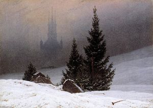 Caspar David Friedrich - Winter Landscape - (Famous paintings)