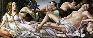 Sandro Botticelli - Venus and Mars - (paintings reproductions)
