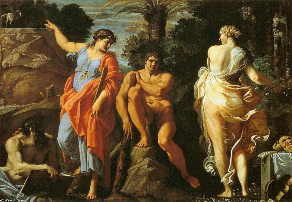 The Choice of Heracles, 1596 by Annibale Carracci (1560-1609, Italy) | Museum Art Reproductions Annibale Carracci | WahooArt.com
