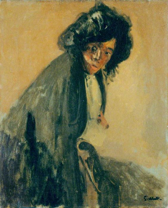 La Giuseppina Leaning against a Chaise-longue, 1903 by Walter Richard Sickert (1860-1942, Germany) | Art Reproduction | WahooArt.com