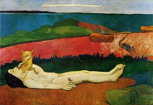 Paul Gauguin - The Loss of Virginity (also known as The Awakening of Spring) - (Famous paintings reproduction)