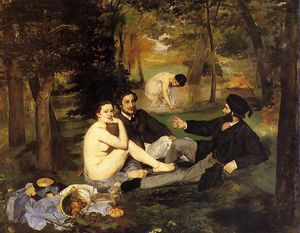 Edouard Manet - Luncheon on the Grass - (paintings reproductions)
