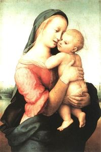 Raphael (Raffaello Sanzio Da Urbino) - Madonna and Child (The Tempi Madonna) - (Famous paintings)