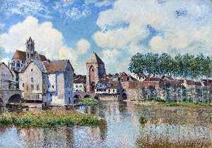 Alfred Sisley - Moret-sur-Loing - (oil painting reproductions)