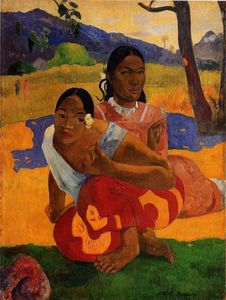 Paul Gauguin - Nafeaffaa Ipolpo (also known as When Will You Marry.) - (oil painting reproductions)