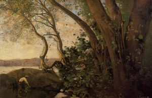 Jean Baptiste Camille Corot - Nemi, the Lake's Edge