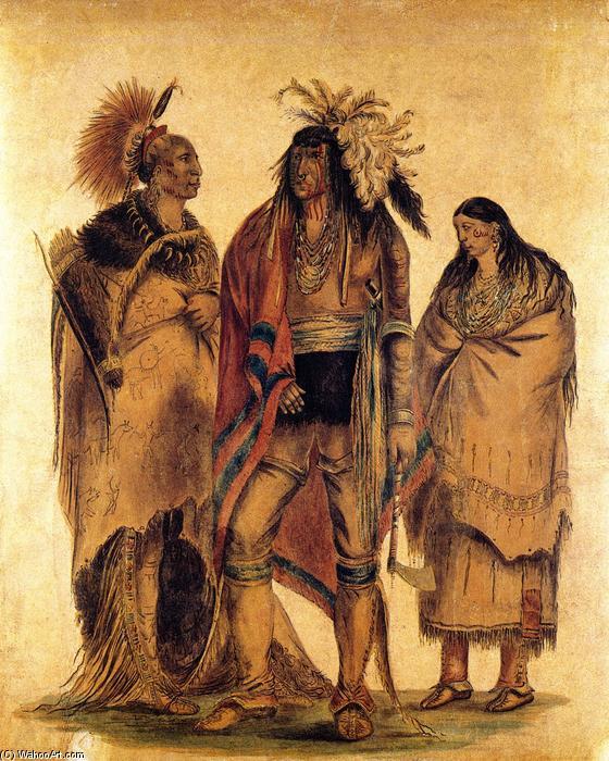 Indios norteamericanos, 1830 de George Catlin (1796-1872, United States) | Reproducciones De Bellas Artes George Catlin | WahooArt.com