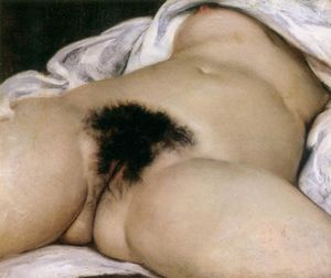 Gustave Courbet - The origin of the world - (Famous paintings reproduction)
