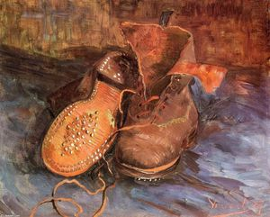 Vincent Van Gogh - A Pair of Shoes - (oil painting reproductions)