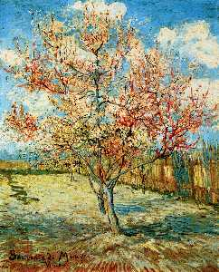 Vincent Van Gogh - Peach Trees in Blossom - (Famous paintings reproduction)