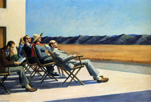 Edward Hopper - People in the Sun - (Famous paintings reproduction)