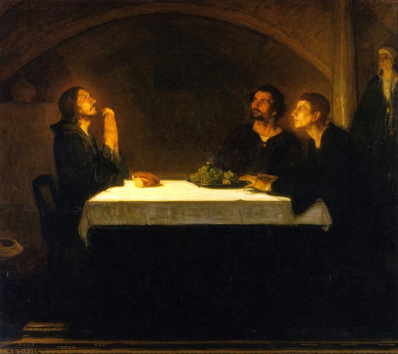 The Pilgrims of Emmaus, 1905 by Henry Ossawa Tanner (1859-1937, United States) | Art Reproduction | WahooArt.com