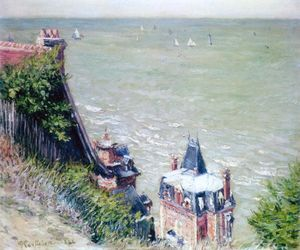 Gustave Caillebotte - Pink Villas at Trouville - (oil painting reproductions)
