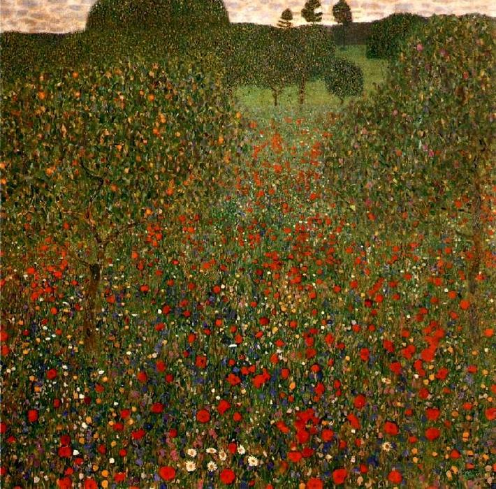 Poppy Field 1907 By Gustav Klimt 1862 1918 Austria