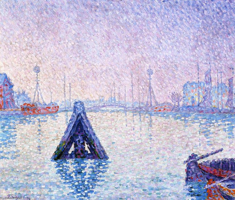 The Port At Vlissingen Boats And Lighthouses 1896 By Paul Signac 1863 1935 France Reproductions