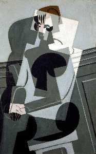 Juan Gris - Portrait of Madame Josette Gris - (Famous paintings reproduction)