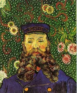 Vincent Van Gogh - Portrait of the Postman Joseph Roulin - (Famous paintings)