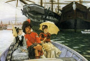 James Jacques Joseph Tissot - Portsmouth Dockyard (also known as How Happy I Could be with Either)