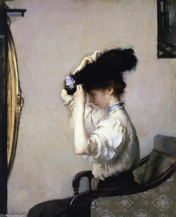 Preparing for the Matinee, 1907 by Edmund Charles Tarbell (1862-1938, United States) | Oil Painting | WahooArt.com