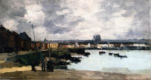 Albert-Charles Lebourg (Albert-Marie Lebourg) - The Quays of Dieppe, after the Rain - (oil painting reproductions)