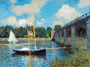 Claude Monet - The Road Bridge at Argenteuil - (Buy fine Art Reproductions)