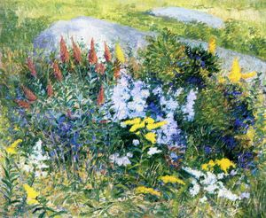 John Leslie Breck - Rock Garden at Giverny
