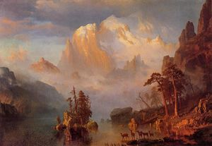 Albert Bierstadt - Rocky Mountains - (paintings reproductions)