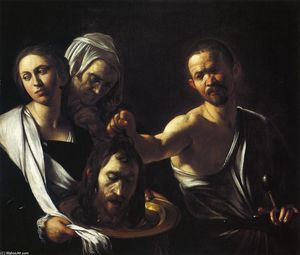 Caravaggio (Michelangelo Merisi) - Salome with the Head of St. John the Baptist - (oil painting reproductions)