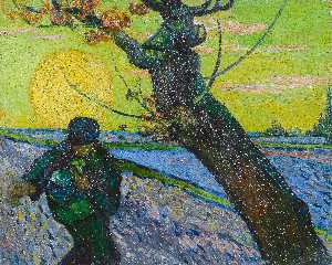 Vincent Van Gogh - The Sower - (Famous paintings)