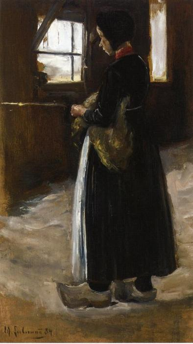 Spinner, 1886 by Max Liebermann (1847-1935, Germany) | Art Reproduction | WahooArt.com