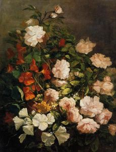 Eugène Louis Boudin - Spray of Flowers