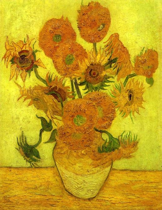 Still Life: Vase with Fourteen Sunflowers, 1889 by Vincent Van Gogh (1853-1890, Netherlands) | Reproductions Vincent Van Gogh | WahooArt.com