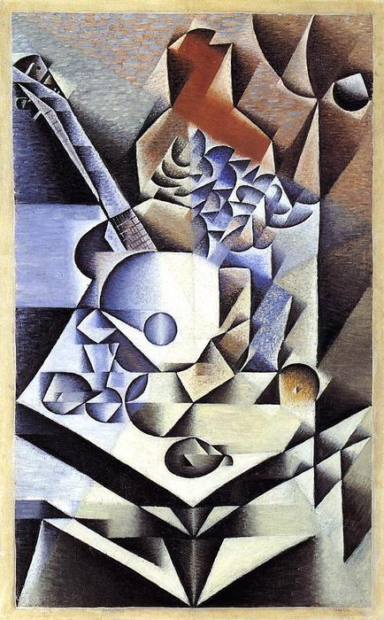 Still Life with Flowers, 1912 by Juan Gris (1887-1927, Spain) | Museum Quality Copies Juan Gris | WahooArt.com