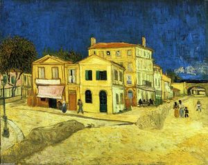 Vincent Van Gogh - The Street, the Yellow House - (Famous paintings reproduction)
