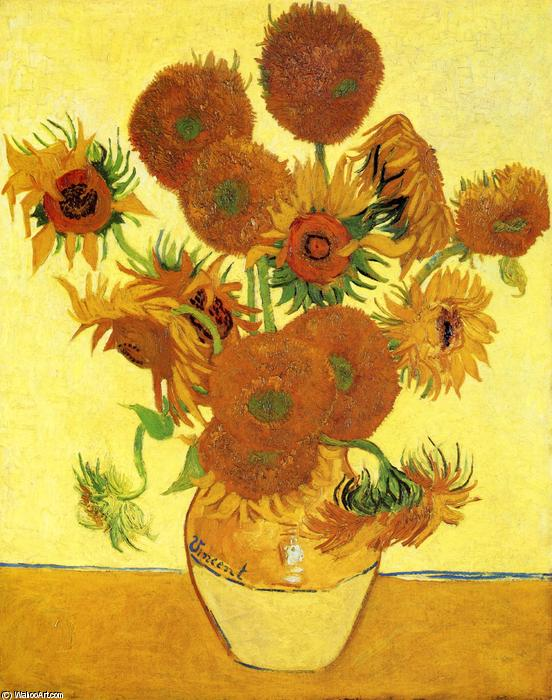 Sunflowers, 1888 by Vincent Van Gogh (1853-1890, Netherlands) | Museum Art Reproductions Vincent Van Gogh | WahooArt.com