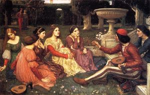 John William Waterhouse - A Tale from the Decameron