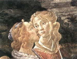 Sandro Botticelli - Three Temptations of Christ (detail 7) (Cappella Sistina, Vatican)