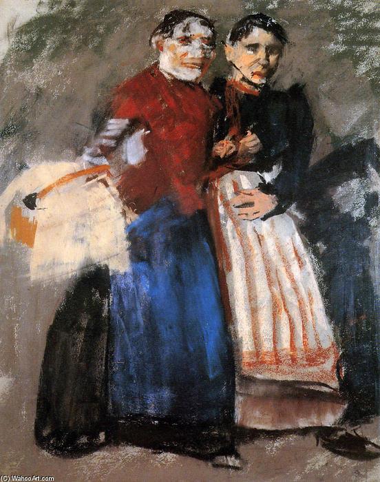 Two Amsterdam girls by George Hendrik Breitner (1857-1923