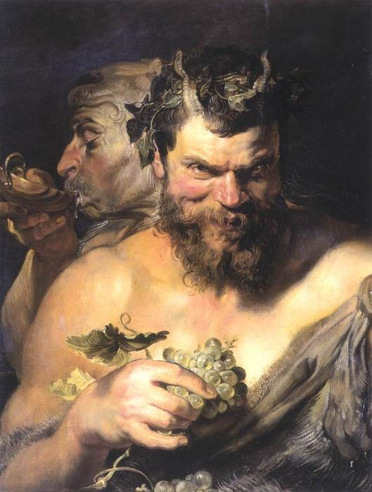 Two Satyrs, 1608 by Peter Paul Rubens (1577-1640, Germany) | Museum Quality Copies Peter Paul Rubens | WahooArt.com