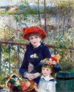 Pierre-Auguste Renoir - Two Sisters (also known as On the Terrace) - (oil painting reproductions)