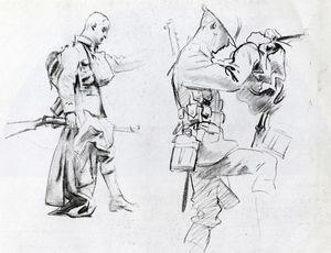 John Singer Sargent - Two studies for soldiers of Gassed