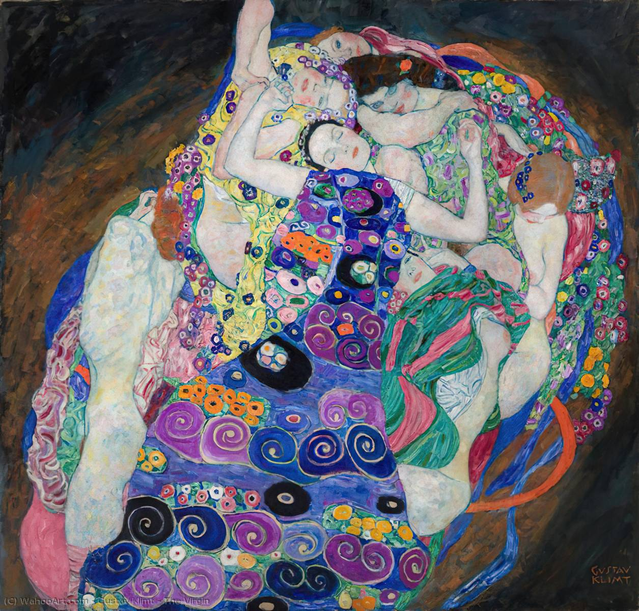The Virgin, 1913 by Gustav Klimt (1862-1918, Austria) | Museum Quality Copies Gustav Klimt | WahooArt.com