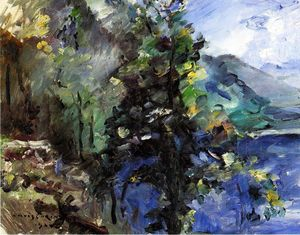 Lovis Corinth (Franz Heinrich Louis) - The Walchensee with the Slope of the Jochberg
