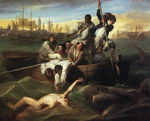 John Singleton Copley - Watson and the Shark - (paintings reproductions)